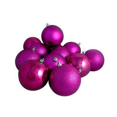 Magenta Shatterproof Christmas Ball Ornaments Color: Light Magenta Pink