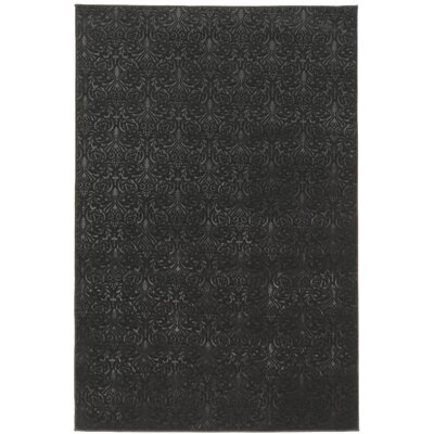 Boone Damask Black Area Rug Rug Size: Rectangle 5 x 76