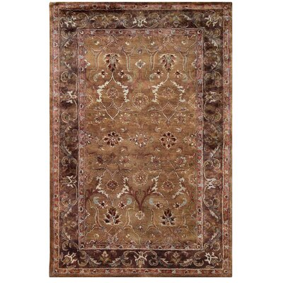 Blythewood Hand-Tufted Brown Area Rug Rug Size: 110 x 210