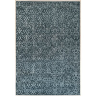 Boone Damask Blue Area Rug Rug Size: Rectangle 8 x 103