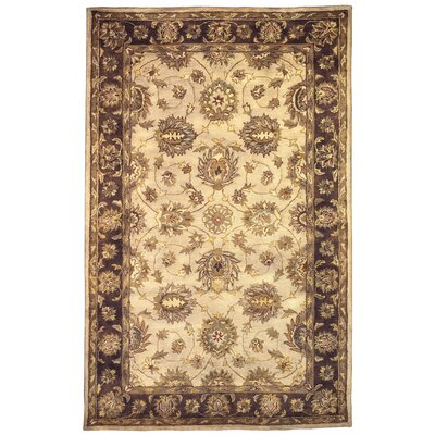 Gattis Hand-Tufted Beige/Brown Area Rug Rug Size: Rectangle 5 x 8