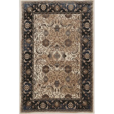 Bluff Canyon Black/Beige Area Rug Rug Size: Rectangle 5 x 76