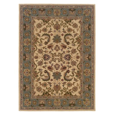 Columban Hand-Tufted Beige/Gray Area Rug Rug Size: Rectangle 5 x 7