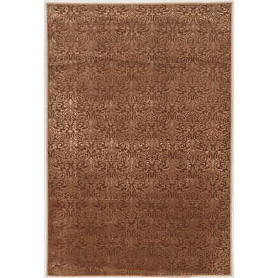 Boone Damask Brown Area Rug Rug Size: 5 x 76