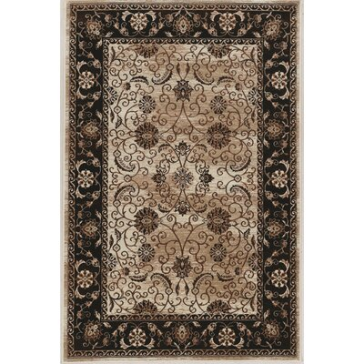 Bluff Canyon Beige/Black Area Rug Rug Size: 5 x 76