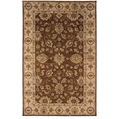 Gattis Traditional Hand-Tufted Brown/Beige Area Rug Rug Size: Rectangle 4' x 6'