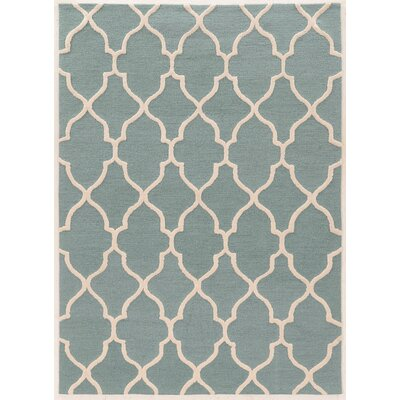 Columban Hand-Tufted Turquoise Area Rug Rug Size: Rectangle 5 x 7