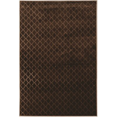 Boone Trellis Brown Area Rug Rug Size: Rectangle 5 x 76