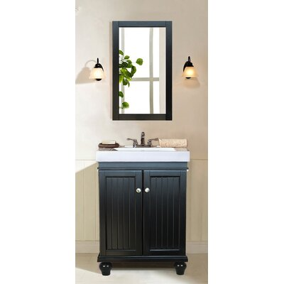 Bowie 24 Single Bathroom Vanity Set Base Finish: Black Espresso