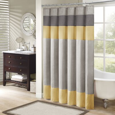 Berardi Shower Curtain Size: 72 W x 72 H, Color: Yellow