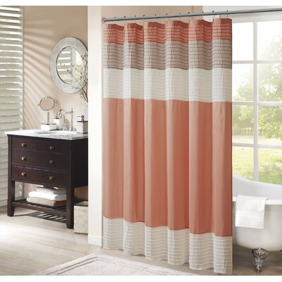 Morell Shower Curtain Size: 72 W x 72 H, Color: Coral