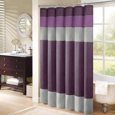 Morell Shower Curtain Color: Purple, Size: 72 W x 72 H