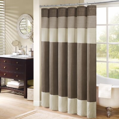 Morell Shower Curtain Color: Ivory, Size: 108 W x 72 H