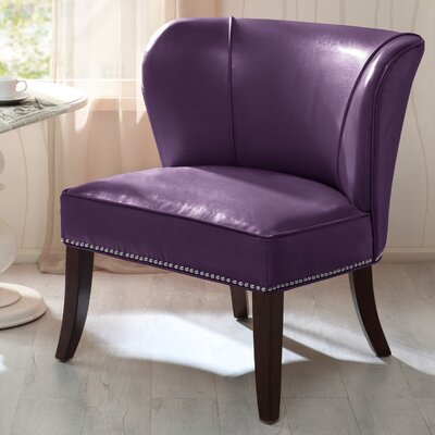 Boyers Slipper Chair Upholstery: Purple