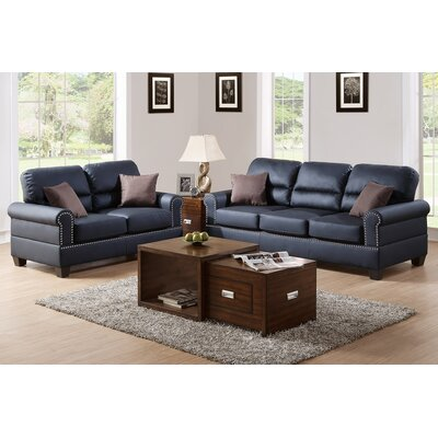 Boyster 2 Piece Sofa and Loveseat Set Upholstery: Black