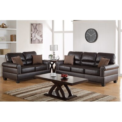 Boyster 2 Piece Living Room Set Upholstery: Espresso