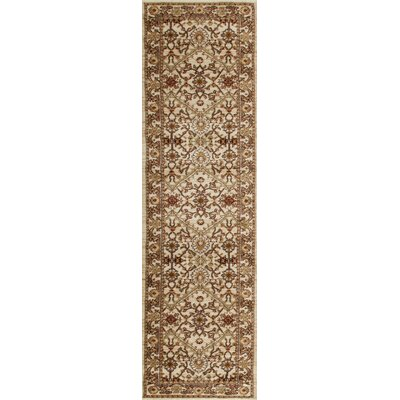 Bracken Cream Area Rug Rug Size: Runner 2 x 8