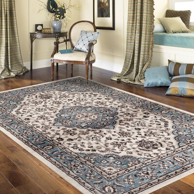 Brainard Blue Area Rug Rug Size: Rectangle 53 x 73