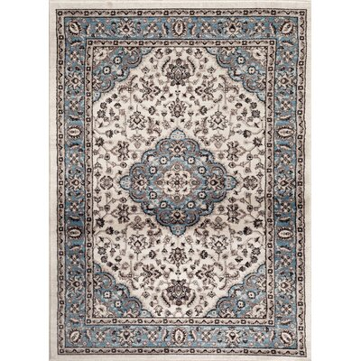 Brainard Blue Indoor Area Rug Rug Size: 53 x 73