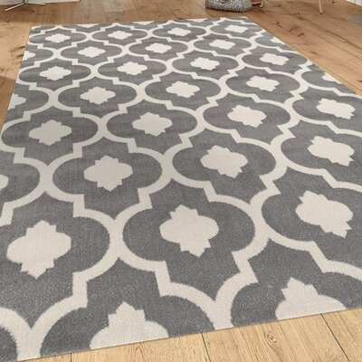 Brainard Gray Area Rug Rug Size: Rectangle 53 x 73