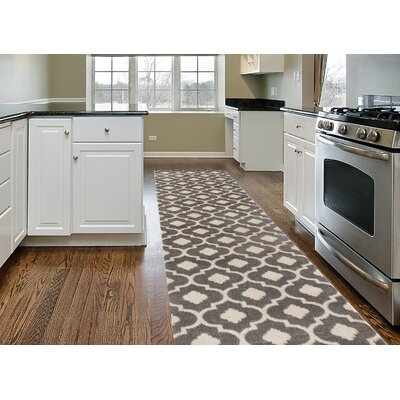 Brainard Gray Area Rug Rug Size: Runner 2 x 72