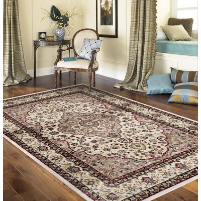 Brainard Cream Area Rug Rug Size: 2 x 3