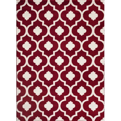 Brainard Red Indoor Area Rug Rug Size: 2 x 3