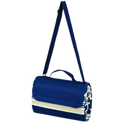 Picnic Blanket Tote Color: Blue Stripe