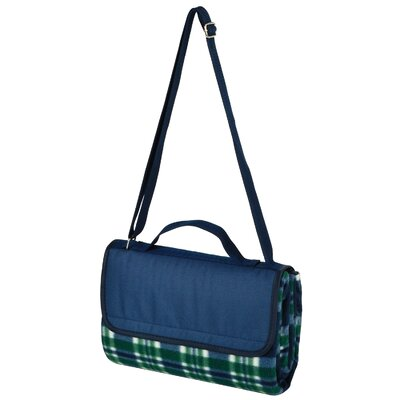Picnic Blanket Tote Color: Green Plaid