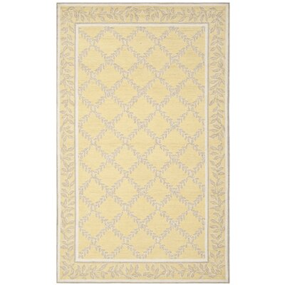 Helena Yellow/Grey Area Rug Rug Size: 53 x 83