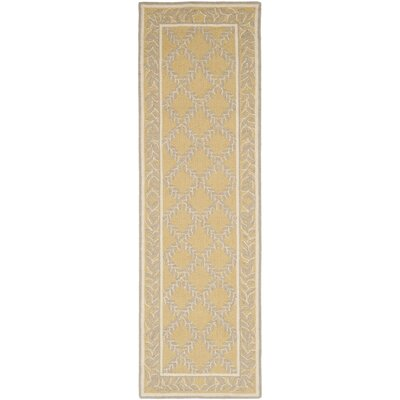 Helena Yellow/Grey Area Rug Rug Size: Runner 26 x 6