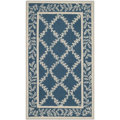 Helena Navy/Cream Area Rug Rug Size: Rectangle 39 x 59