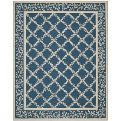 Helena Navy/Cream Area Rug Rug Size: Rectangle 89 x 119