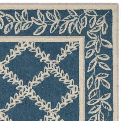 Helena Navy/Cream Area Rug Rug Size: Rectangle 26 x 4