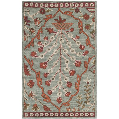 Colesberry Blue Area Rug Rug Size: Rectangle 2 x 3