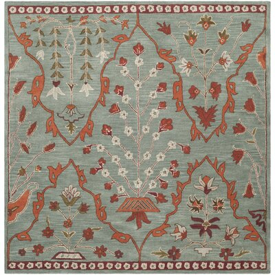 Colesberry Blue Area Rug Rug Size: Square 7