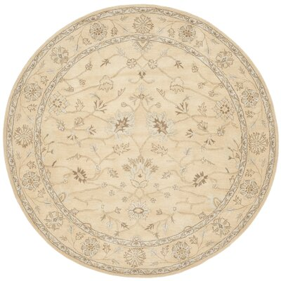 Colesberry Light Gold Area Rug Rug Size: Round 7