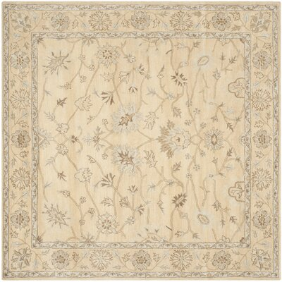 Colesberry Light Gold Area Rug Rug Size: Square 7