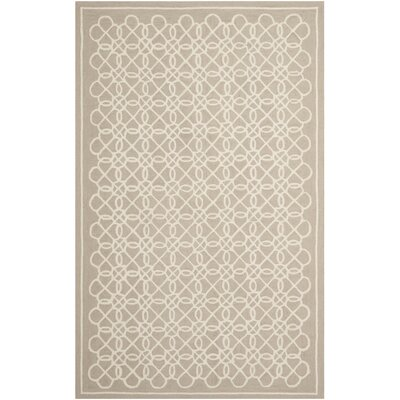 Helena Tan/Ivory Area Rug Rug Size: Rectangle 39 x 59