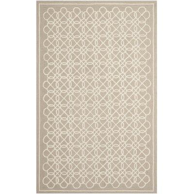 Helena Tan/Ivory Area Rug Rug Size: Rectangle 53 x 83