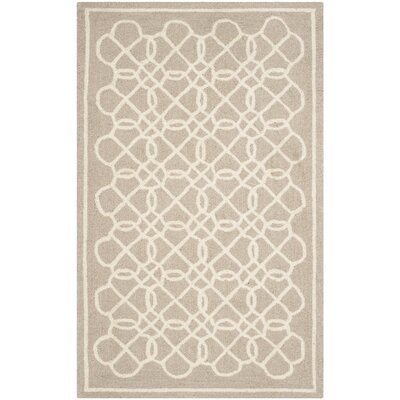 Helena Tan/Ivory Area Rug Rug Size: Rectangle 26 x 4