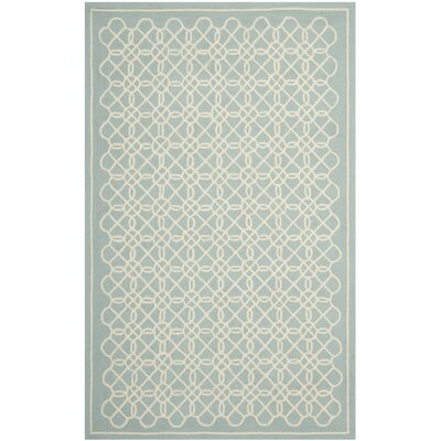 Helena Blue/Ivory Rug Rug Size: Rectangle 79 x 99