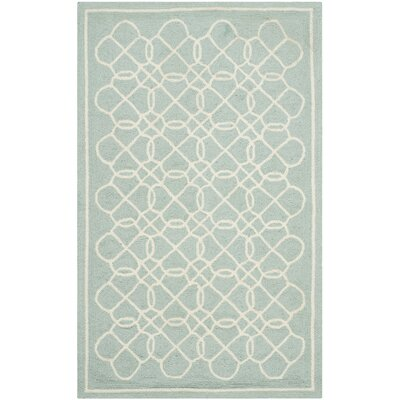 Helena Blue/Ivory Rug Rug Size: Rectangle 26 x 4
