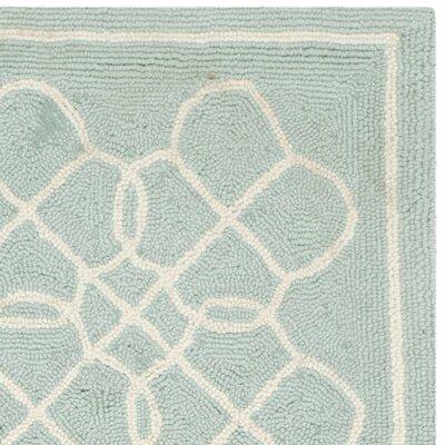 Helena Blue/Ivory Rug Rug Size: Runner 26 x 8