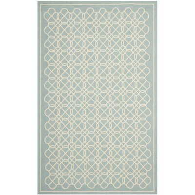 Helena Blue/Ivory Rug Rug Size: Rectangle 53 x 83