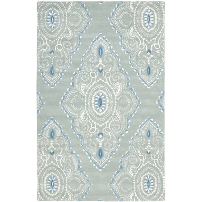 Colesberry Blue/Ivory Rug Rug Size: Rectangle 89 x 12