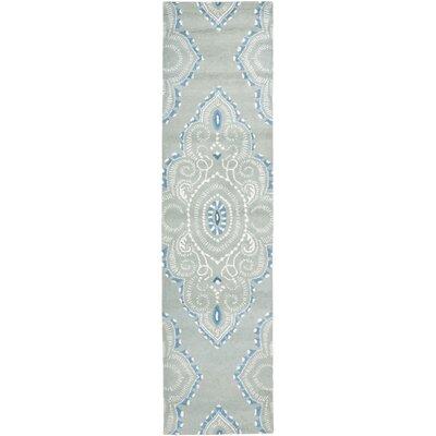 Colesberry Blue/Ivory Rug Rug Size: Runner 23 x 9