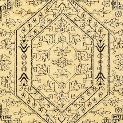 Dubuque Gold/Black Area Rug Rug Size: Runner 26 x 20