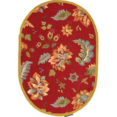 Helena Floral Area Rug Rug Size: Rectangle 53 x 83