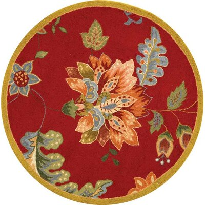 Helena Floral Area Rug Rug Size: Round 56